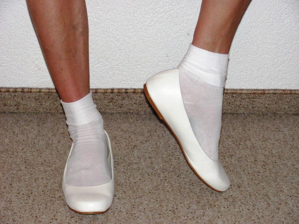 Lesbian ballet flats white socks
