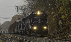 WAPO in the rain (Thomas Coulombe) Tags: panamrailways panam emdsd402m sd402m wapo freighttrain train oakland maine
