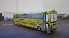 X283 - Dock Transportation 153 (Etienne Luu) Tags: thomas buit buses saftliner efx school bus paper cardstock model