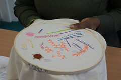 DSC_0724 (surreyadultlearning) Tags: embroidery sewing adulteducation surrey camberley art craft tutor uk painting calligraphy photography