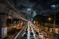 bangkok (Roberto.Trombetta) Tags: asia thailand bangkok jam night nightlife taxi tuc long exposure bts line skytrain cloud cloudygarden landscape view sonyalpha sony7rii sony7rm2 batis225 carlzeiss zeiss carl sony alpha 7rii lenses tree people lifestyle fashion road skyscraper silhouette romantic centre lumphini park roof top rooftop panorama from above beautiful thai light stunning skyline peak hour traffic moon full surasak silom sathon sathorn street