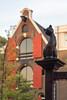 Cat and shutters, Prinsengracht, Grachtengordel, Amsterdam, Netherlands (Ministry) Tags: cat statue prinsengracht 217 amsterdam netherlands nederland shutters spoutgable warehouse café p96 window