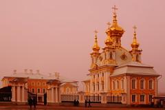 Fog, Gold, and Baroque (Sergei P. Zubkov) Tags: peterhof march 2016 church