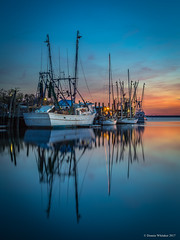 Blue Hour Shirmp Boats (DonnieWhitaker) Tags: bluehour mtpleasant shemcreek shrimpboats sailboats charleston