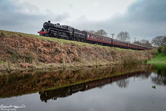 76084 (chromaphoto.co.uk) Tags: elr eastlancsrailway buryburrs steam train engine water reflections 45212 52322 34092 48624 76084 black5 standard4mt 8f westcountry lyr class27