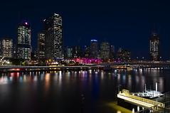 Brisbane Skyline (Macr1) Tags: camera city urban copyright building skyline architecture facade skyscraper river lens outdoors nikon australia location brisbane structure qld queensland subject bluehour geography faade conditions exteriors builtenvironment d700 nikond700 markmcintosh pcenikkor24mmf35ded macr237gmailcom markmcintosh