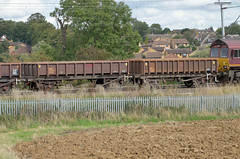 394874 Kingsthorpe 130915 (Dan86401) Tags: 394874 mha open ballast wagon freight conversion coalfish fishkind ews dbs db schenker latebuildcoalfish engineers departmental infrastructure wilsonscrossing kingsthorpe northampton wcml 6r06