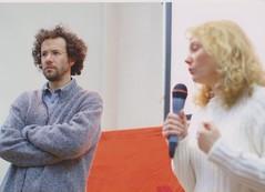 Il direttore artistico Carlo CH Trian e La regista Catherine Macgilvray