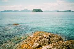 38260005 (mattviveen) Tags: ocean sea summer mountains film nature water japan 35mm warmth tokushima