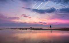 aurores catalanes ... (ELSUEC ...) Tags: longexposure blue autumn sea sky sun seascape reflection clouds landscape europe catalonia catalunya costabrava paisatge empordà mediterrani baixempordà lagola