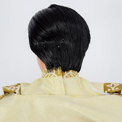 Limited Edition Aladdin and Jasmine 17'' Wedding Doll Set - Disney Store Purchase - Deboxing - Aladdin Freed From Plastic Form - Closeup Rear View - Back of Head (drj1828) Tags: wedding us prince aladdin purchase limitededition 155 disneystore 17inch deboxing le250
