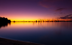 Lake of Fire (dlw13159) Tags: sunset water colors fire outback serene menindee ef24105mmf4lisusm menindeelakes lakepamamaroo canoneos5dmarkii gavowen