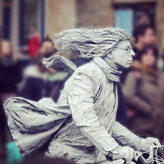 human statue at bath xmas market 2015