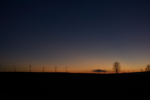 Sunset near Tři Sekery