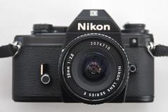Nikon EM (pho-Tony) Tags: slr film japan 35mm lens japanese reflex 28mm e single automatic 135 f28 nikonem aperturepriority eseries photosofcameras