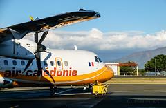 ATR 72-500 Aircal (cedric.harbulot) Tags: sky cloud plane nikon aircraft sigma ciel nuage paysage nouvellecaldonie newcaledonia avion hlice atr72500 aircal d5300