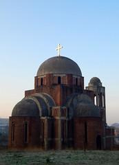 Daybreak (aleta.weber) Tags: city sky church day break cathedral kathedrale kirche kosovo balkans achitecture pristina tagesanbruch pristhina