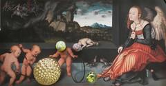 habitation (fotosonic73) Tags: peinture tableau boule jeu habitation bille personalisation intégration cerceau mélancolie bâtons gestes actualisation femmeailée impressionnumérique