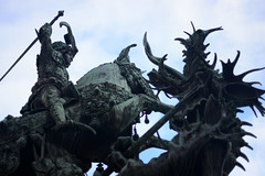 st. george and the dragon (Paula Abraho) Tags: travel sculpture 50mm nikon sweden stockholm sverige stgeorge saintgeorge sojorge sucia estocolmo drago
