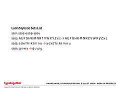 AwanZaman (TypeTogether) Tags: workinprogress arabic latin typeface sneakpeek julietshen mamounsakkal typetogether multiscript wwwtypetogethercom awanzaman