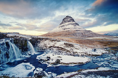 Kirkjufellsfoss (3dgor 加農炮) Tags: iceland kirkjufellsfoss westernregion is waterfall mountain ice snow landscape