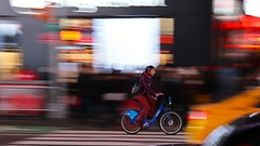 Panning - Time Square (-SOLO--) Tags: nyc panning bicycle timessquare canon 6d citibike 7dwf crazytuesday colorful
