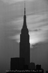 Empire (uselessbay) Tags: 1987 agfaapx25 canon canonf1 empirestatebuilding epsonperfectionv600 kodakektachrome100 newyork nikon uselessbayphotography williamtalley blackandwhite d700 film fullframe sunset uselessbay
