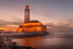 Hassan II Mosque (davecurry8) Tags: casablanca hassanii mosque sunset ocean morocco maroc