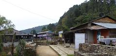 P1110014 We leave Pothana after Checking 'out' my ACAP permit at the adjacent check-post (ks_bluechip) Tags: nepal trek dec2016 annapurna abc mbc pothana australiancamp kande