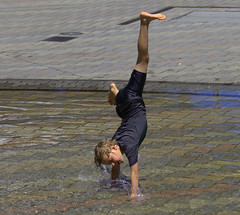 Cartwheel Kid (swong95765) Tags: cartwheel acrobatics gymnastics water boy kid wet play fun showoff splash