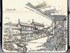 En Guisande (f.gómezcorisco) Tags: dibujo boceto librito rotulador café guisande santacomba galicia airelibre sketch