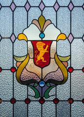 Dunedin Railway Station Stained Glass Window (II) (deltics) Tags: southisland trainstation dunedin hdr windows newzealand nz stainedglass otago
