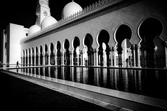 Contemplation (tomabenz) Tags: abudhabi sonya7rm2 streetphotography contrast bw bnw monochrome mosque noiretblanc reflection streetview blackandwhite black white