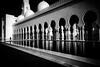 Contemplation (tomabenz) Tags: abudhabi sonya7rm2 streetphotography contrast bw bnw monochrome mosque noiretblanc reflection streetview blackandwhite black white