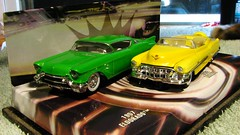HOTWHEELS CADILLACS (richie 59) Tags: winter generalmotors diecastcollection 164scale 164 hotwheelsdiecast inside diecastcars richie59 cadillaceldorado cadillac eldorado weekday friday diecastautos diecastautomobiles diecastvehicles hotwheels 1953cadillaceldorado diecastcadillac jan2017 2017 jan132017 1957cadillaceldorado 1953cadillac 1957cadillac 1953cadillaceldoradobiarritz eldoradobiarritz biarritz 2010s america americancar 1950scar 2door twodoor convertible greencar yellowcar frontend grill headlights