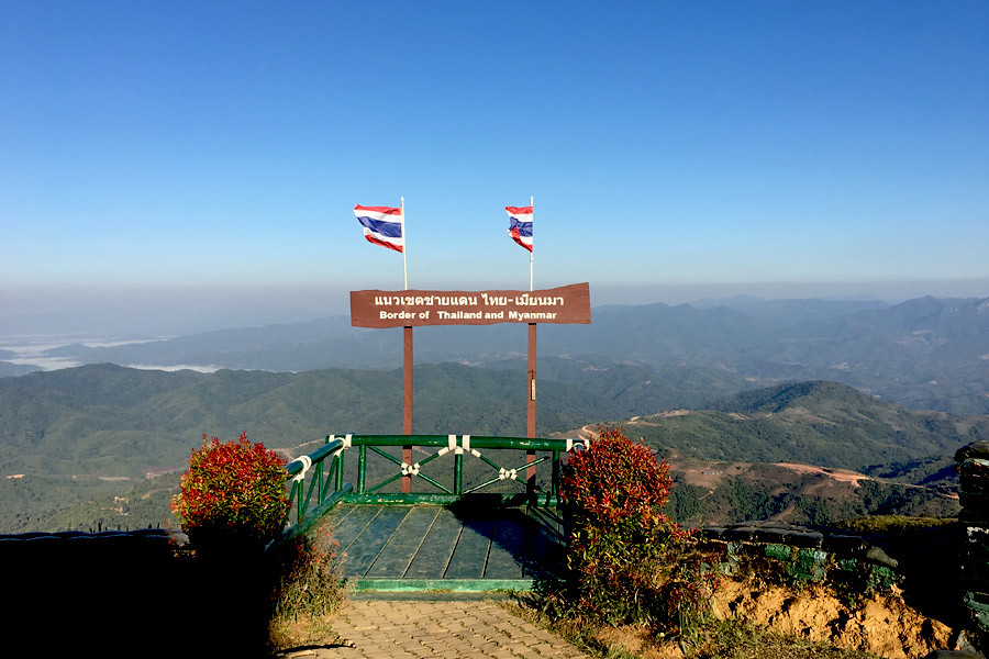 Stunning view of Myanmar from its border with Thailand
