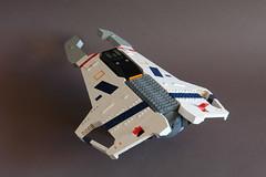 Hiigaran Light Interceptor - Rear (Sydag) Tags: lego moc scifi space starfighter spacefighter homeworld