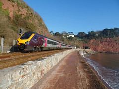 220026 Teignmouth Sea Wall (2) (Marky7890) Tags: xc 220026 class220 voyager 1s49 teignmouth railway devon train