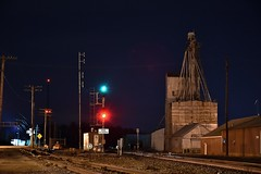 Highball Old Monroe. (Machme92) Tags: bnsf burligrton nikon nikond7200 railroad railfanning railroads railfans rails oldmonroe sky nightshots nightshot