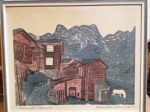 FRITHJOF TIDEMAND-JOHANNESSEN (1916-1958) Norwegian wood block prints ($134.40 & ($176.40)