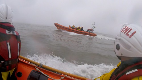 Horse faller at Kenfig Sands transferred by lifeboat to Porthcawl