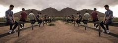 Two fences (walpert17) Tags: fence composite self portrait canon 80d concentration clarity desert surreal explore photos art mountain phoenix arizona scottsdale