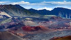 Volcano Valley 2017 #2 (Ron Scubadiver's Wild Life) Tags: landscape maui hawaii nikon haleakala mountain volcano crater sky clouds 24120 trails