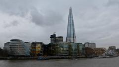 Thames & Shard (bathyporeia) Tags: shard london thames unitedkingdom ©hanshillewaert stitchedpanorama