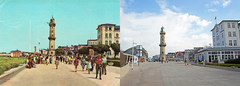 Now & Then - Warnemünde 1962 / 2016 - Strandpromenade mit Leuchtturm (www.nbfotos.de) Tags: damals heute now then warnemünde leuchtturm promenade strandpromenade mecklenburgvorpommern