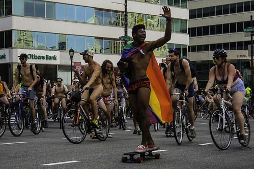 Shine Philadelphia naked bike ride all