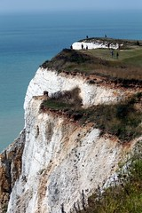 Close to the Edge (Heaven`s Gate (John)) Tags: ocean blue sea england sky people white seascape english fall feet nature water spectacular landscape sussex chalk high view head suicide dramatic cliffs edge 500 channel beachy closetotheedge 10faves 25faves johndalkin heavensgatejohn