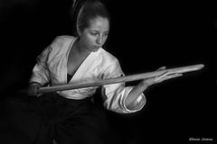 IMG_5843 (Daniel JG) Tags: portrait blackandwhite blancoynegro girl studio book model lowlight estudio bn kimono aikido lowkey aikidoka cinturon reportaje clavebaja luxacion fotoestudio