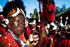 A Konyak man at the Hornbill Festival in Kohima, Nagaland. (arunchs) Tags: india tribe naga kohima nagaland kisama northeastindia hornbillfestival konyak
