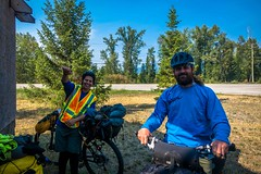 Carlos and Dave, cycling from Calgary to Vancouver.